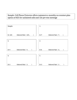 Linear Equations CCSS math 8 QR code activity or review