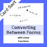 Linear Equations Card Sort - Converting Between Forms
