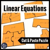 Linear Equations Cut-Out Puzzle