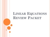 Linear Equations Detailed Review Packet