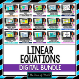 Linear Equations Digital Bundle For Google Drive™ Distance