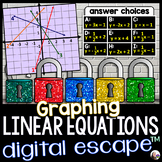 Graphing Linear Equations Digital Math Escape Room