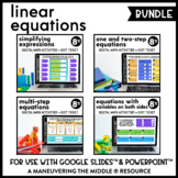 Linear Equations - Digital Math Activities for Google Slid