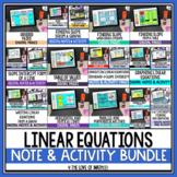 Linear Equations Digital Note and Activity Bundle Google Slides™