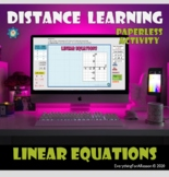 FREE- Linear Equations- Drag and Drop Activity - Distance