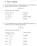 Linear Equations Exam