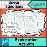 Linear Equations Exploration Activity