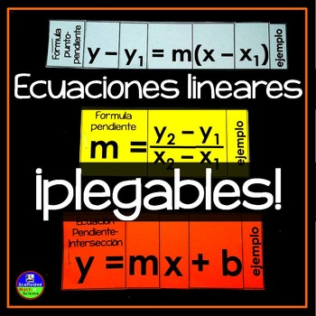 Linear Equations Flippables - ¡En Español!