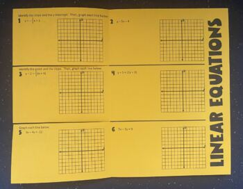 Linear Equations (Foldable)