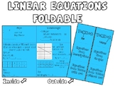 Linear Equations Foldable / Graphing Organizer and Anchor Chart