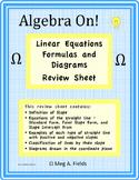 Linear Equations Formulas and Diagrams Review Sheet