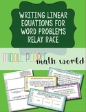 Linear Equations/Functions Word Problems Relay Race