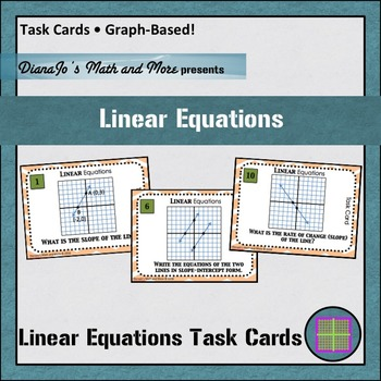Linear Equations Graph-Based Task Cards