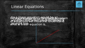Linear Equations & Graphing