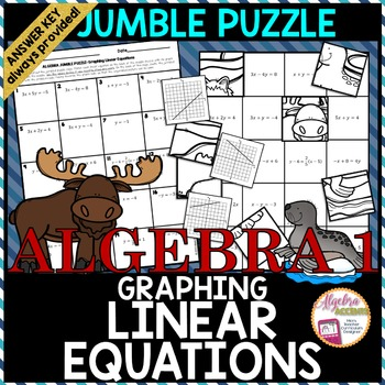 Graphing Linear Equations Jumble Puzzle