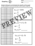 Linear Equations Graphing Slope Rise over Run Worksheet with Key A-CED.A.2