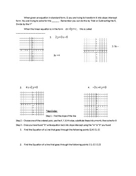 Linear Equations Guided Notes