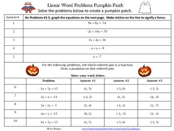 Linear Equations Halloween Activity