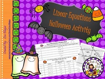 Linear Equations Halloween Activity