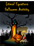 Literal Equations Halloween Activity