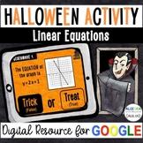 Linear Equations - Halloween Digital Activity