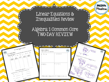 Linear Equations & Inequalities Unit Review