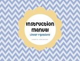 Linear Equations - Instruction Manual