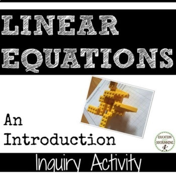 Linear Equations Inquiry Station Activity to introduce Linear Equations UPDATED