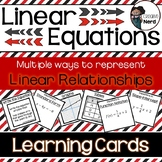 Linear Equations Learning Cards - Print and go cards for c