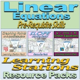Linear Equations - Learning Stations Resource Packs BUNDLE
