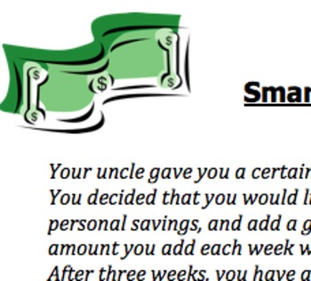 Linear Equations Lesson Plan & Activities (Smart Savings)