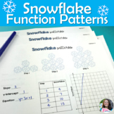 Linear Equations Functions Patterns Winter Snowflake Activ
