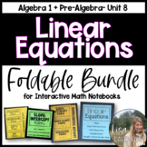 Linear Equations & Linear Systems FOLDABLE BUNDLE