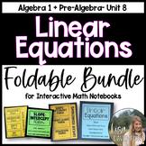 Linear Equations Foldable Bundle