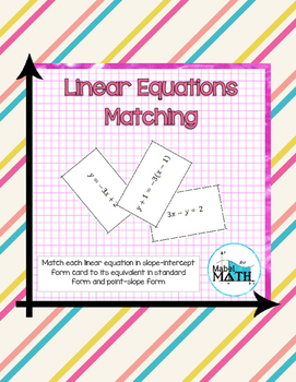 Linear Equations Matching