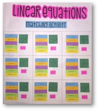 Linear Equations Matching Activity (Group Project)