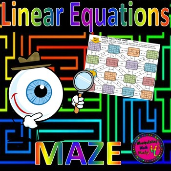 Linear Equations Maze Activity