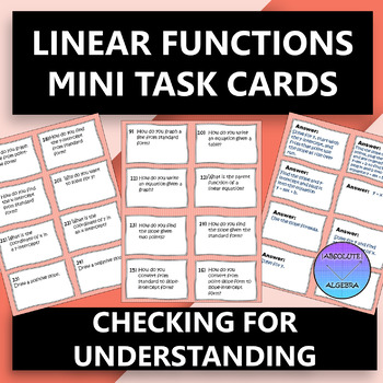 Linear Equations Mini Task Cards