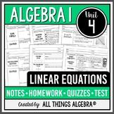 Linear Equations (Algebra 1 Curriculum - Unit 4)