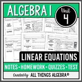 Linear Equations (Algebra 1 Curriculum - Unit 4) DISTANCE LEARNING