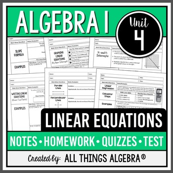 All Things Algebra Teaching Resources | Teachers Pay Teachers