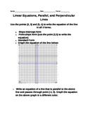 Linear Equations, Parallel and  Perpendicular Lines