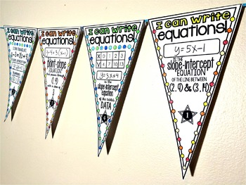 Linear Equations Pennant Activity
