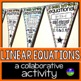 Linear Equations Math Pennant Activity