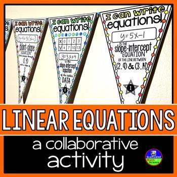 Linear Equations Math Pennant Activity