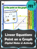 Linear Equations: Point on a Graph