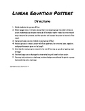 Linear Equations Poster Project