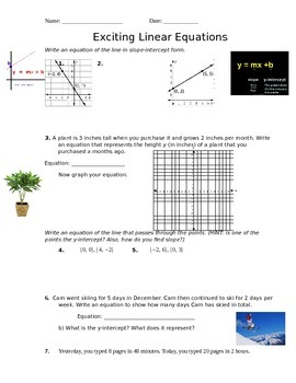 Linear Equations Practice