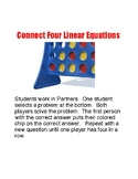 Linear Equations Practice Connect 4