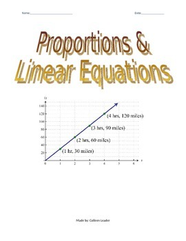 Linear Equations & Proportions
